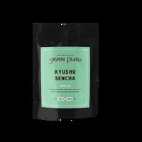 2 oz. packaging for Kyushu Sencha loose leaf green tea from The Jasmine Pearl Tea Co.