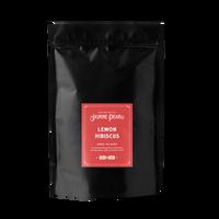 1 lb. packaging for Lemon Hibiscus loose leaf herbal tea from The Jasmine Pearl Tea Co.