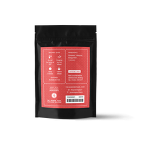 2 oz. packaging for Red Hot Hibiscus loose leaf herbal tea from The Jasmine Pearl Tea Co.