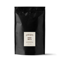 1 lb. packaging for Berry White loose leaf white tea from The Jasmine Pearl Tea Co.