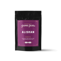 2 oz. packaging for Alishan Oolong loose leaf tea from The Jasmine Pearl Tea Co.