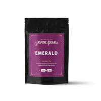 2 oz. packaging for Emerald Oolong loose leaf tea from The Jasmine Pearl Tea Co.