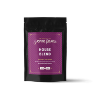 2 oz. packaging for House Blend loose leaf oolong tea from The Jasmine Pearl Tea Co.