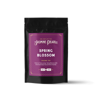 2 oz. packaging for Spring Blossom loose leaf oolong tea from The Jasmine Pearl Tea Co.