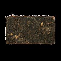 Yellow Bird ripe puerh tea brick from The Jasmine Pearl Tea Co.