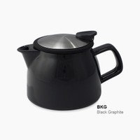 ForLife Bell Ceramic Teapot in Black Graphite