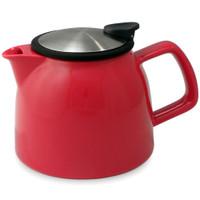 26 oz. ForLife Bell Ceramic Teapot in Red