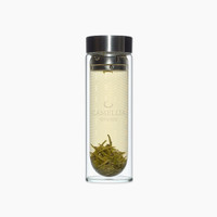 Camellia Sinensis Glass Tea Tumbler from the Jasmine Pearl Tea Co.