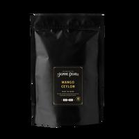 1 lb. packaging for Mango Ceylon loose leaf black tea from the Jasmine Pearl Tea Co.