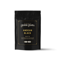 2 oz. packaging for Andean Black loose leaf black tea from The Jasmine Pearl Tea Co.