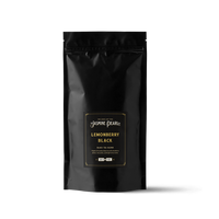 1 lb. packaging for Lemonberry Black loose leaf black tea from the Jasmine Pearl Tea Co.