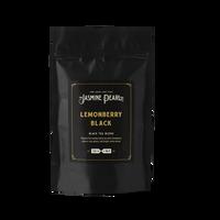 2 oz. packaging for Lemonberry Black loose leaf black tea from the Jasmine Pearl Tea Co.