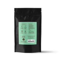 2 oz. packaging for Strawberry Sencha loose leaf green tea from the Jasmine Pearl Tea Co.