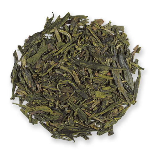 Dragonwell loose leaf green tea from The Jasmine Pearl Tea Co.