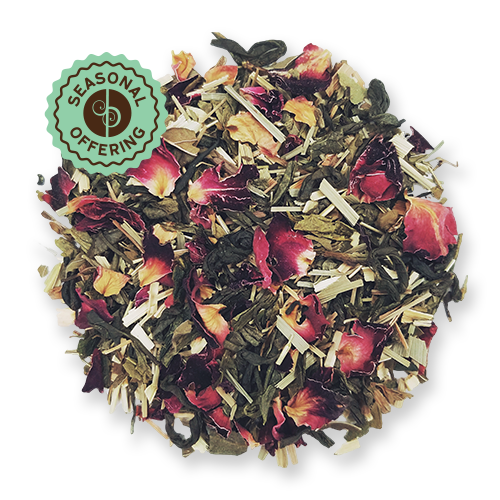 Tropical Green loose leaf green tea blend from The Jasmine Pearl Tea Co.