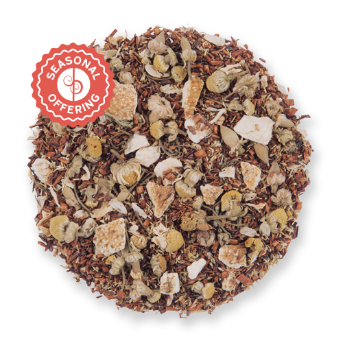 Clementine Sunset loose leaf herbal tea blend from The Jasmine Pearl Tea Co.