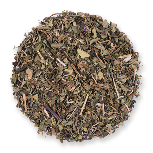 Northwest Mint loose leaf herbal tea from The Jasmine Pearl Tea Co.
