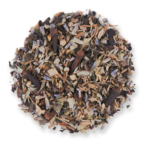 Dream Blend loose leaf herbal tea from The Jasmine Pearl Tea Co.