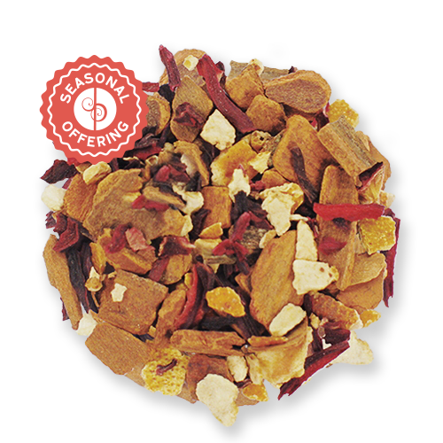 Red Hot Hibiscus loose leaf herbal tea blend from The Jasmine Pearl Tea Co.