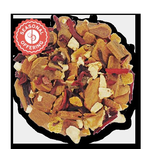 Red Hot Hibiscus loose leaf herbal tea from The Jasmine Pearl Tea Co.