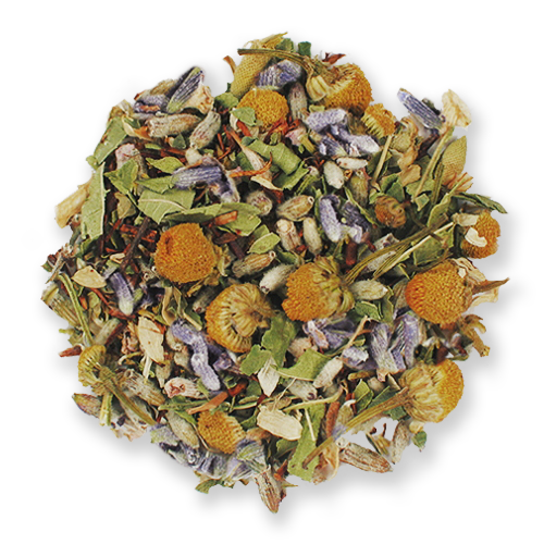 Rest Easy loose leaf herbal tea blend from The Jasmine Pearl Tea Co.