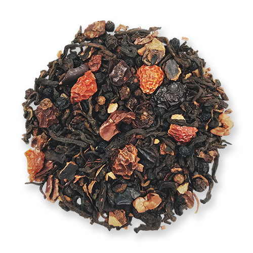 Black Wolf loose leaf puerh tea from The Jasmine Pearl Tea Co.