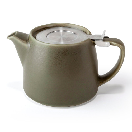 Stump Teapot - OLIVE