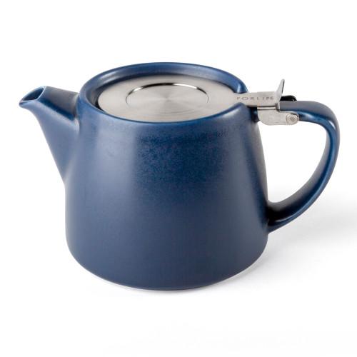 Stump Teapot - INDIGO