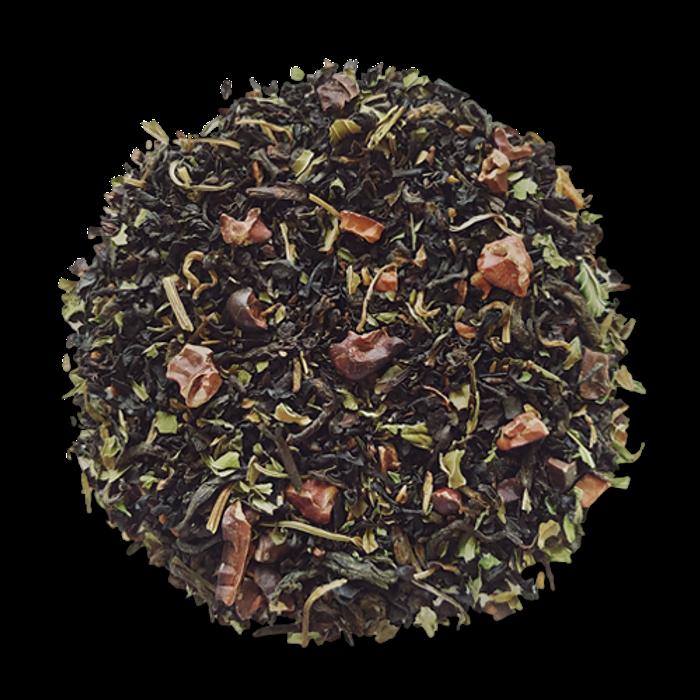 Cocoa Mint black loose leaf tea from The Jasmine Pearl Tea Co.