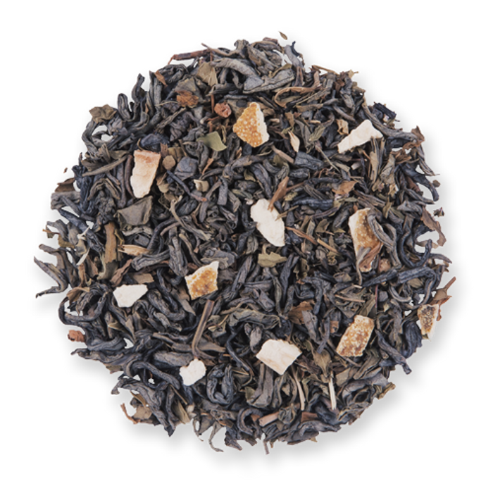 Mild Moroccan Mint loose leaf green tea from The Jasmine Pearl Tea Co.