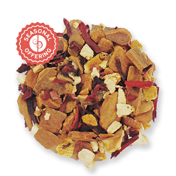 Red Hot Hibiscus loose leaf herbal tea from The Jasmine Pearl Tea Co.