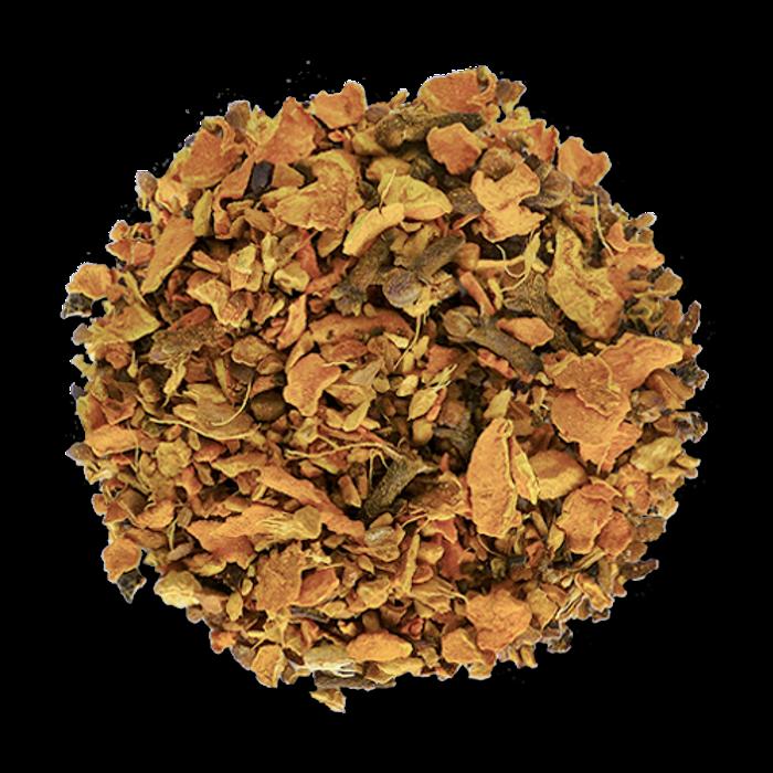 Golden Fire loose leaf herbal tea from The Jasmine Pearl Tea Co.