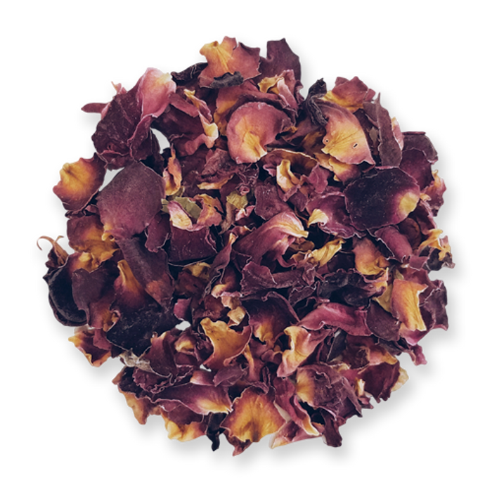 Dried rose petals from The Jasmine Pearl Tea Co.