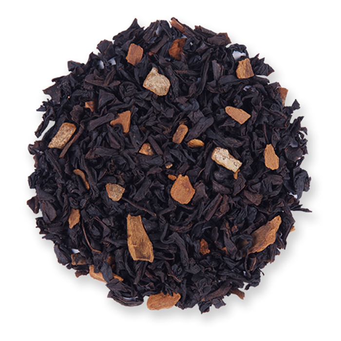 Amaretto Spice loose leaf black tea from The Jasmine Pearl Tea Co.