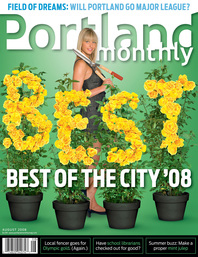 Portland Monthly Cover Aug 2008