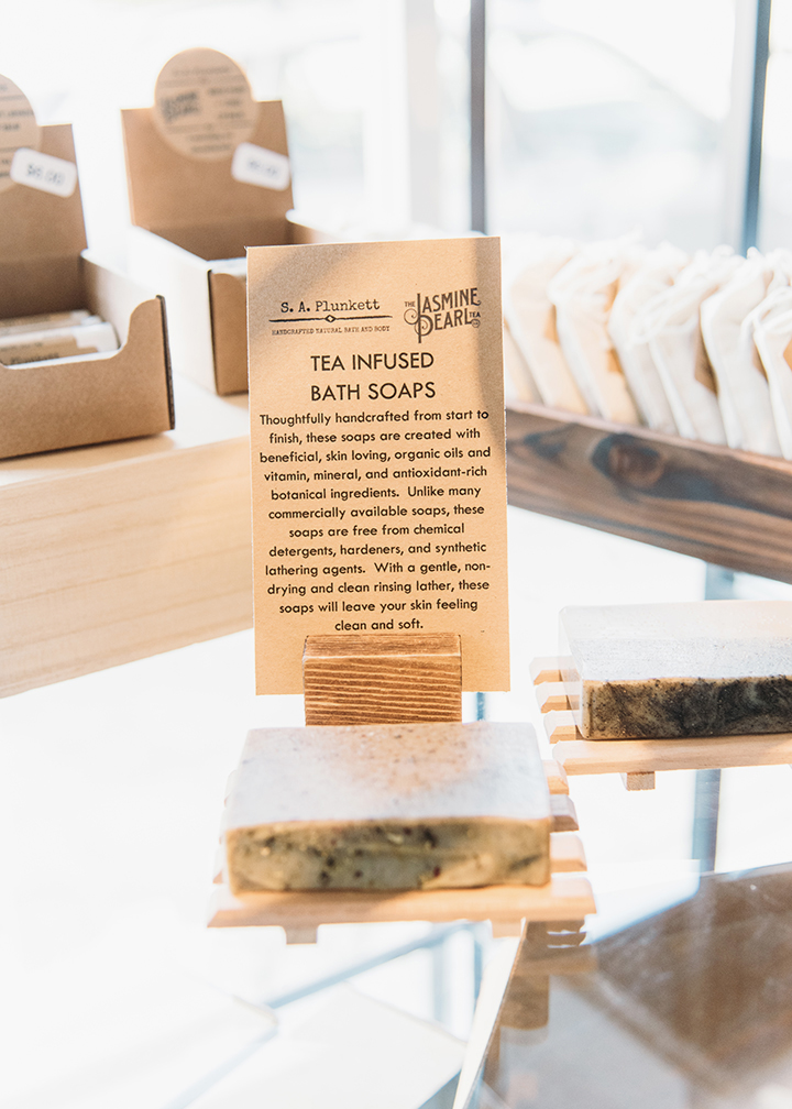S.A. Plunkett x The Jasmine Pearl Tea Co's Tea-Infused Bath Soaps