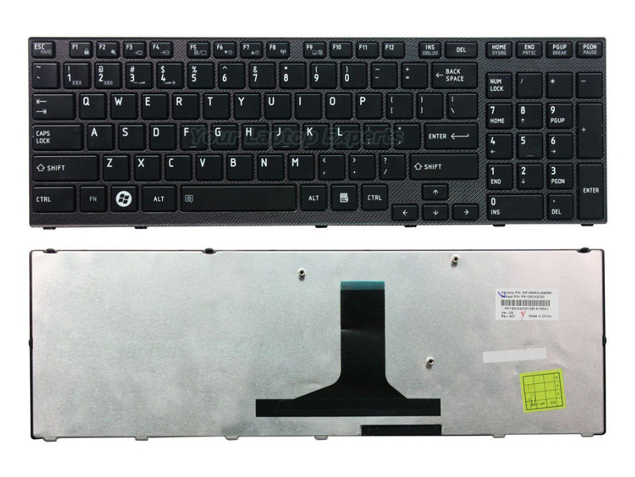 New Genuine Toshiba Satellite A665D-S6051 A665D-S6059 US Keyboard