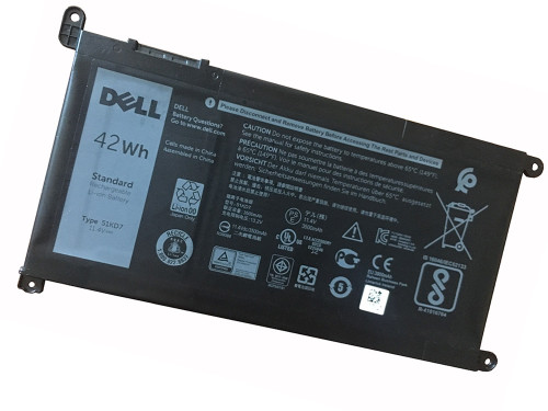 New 11.4V 42Wh Original Dell 51KD7 Y07HK Laptop Battery