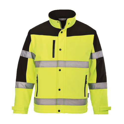 TWO TONE HI VIZ SOFTSHELL JACKET