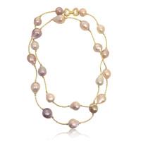 Multicolour Baroque Pearl Long Necklace