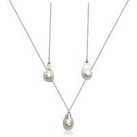 White Baroque Pearl Sterling Silver Pendant