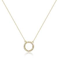 Circle Of Life Pearl Pendant, Yellow Gold