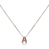 Personalised Initial Pendant, Rose Gold Vermeil