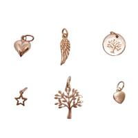 Rose Gold Charms for Personalised Hoop Earrings