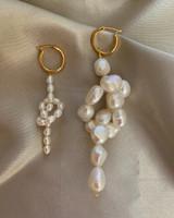 Bow Pearl Hoops Earrings