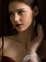 Hailey 5 Pearl Drop Earrings