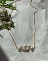 Keshi Pearl Pendant Chain Choker Necklace
