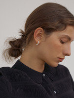 Lyla Small Gold Pearl Hoops