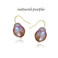 Gracie Large Baroque Gold Pearl Earrings