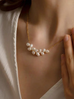 Whitney Wheat Pearl Pendant Necklace